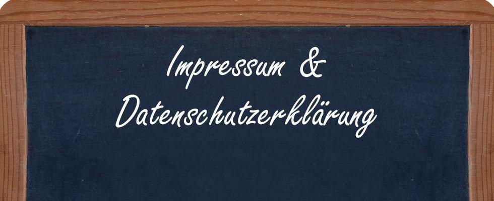 Impressum & Datenschutzerklärung